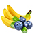 borůvka - banán
