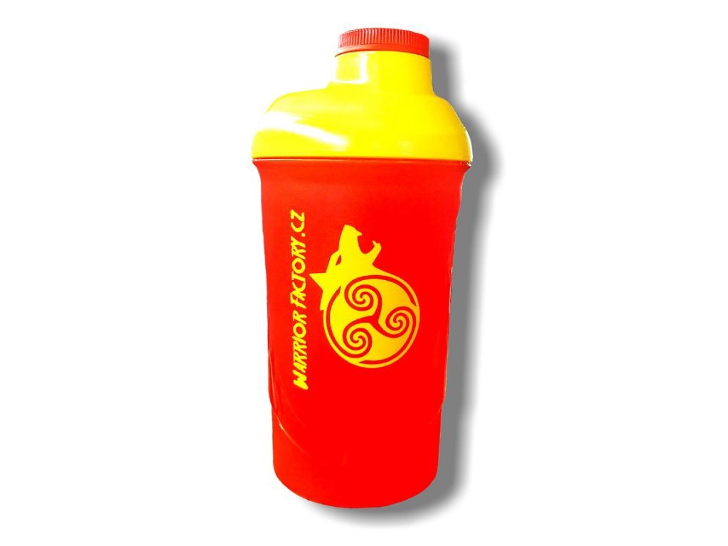 42360 warrior factory shaker 600 ml cerveno zluty