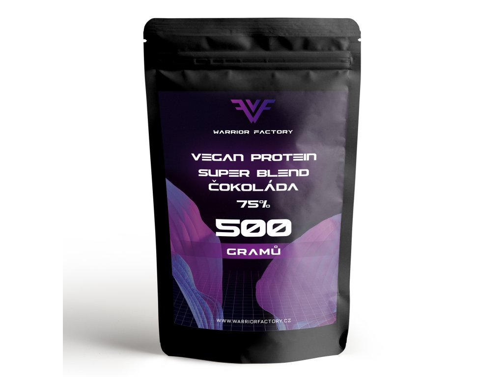 Warrior Factory VEGAN PROTEIN SUPER BLEND 75% 500 G PŘEDNÍ