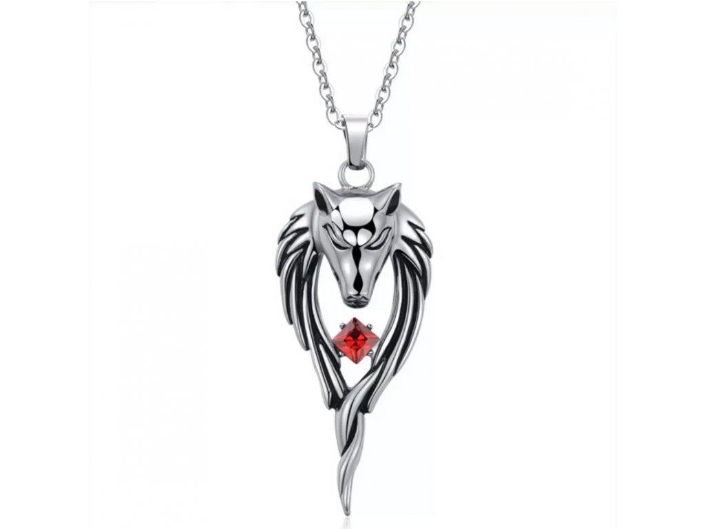 42630 warrior factory privesek tajemny vlk silver red