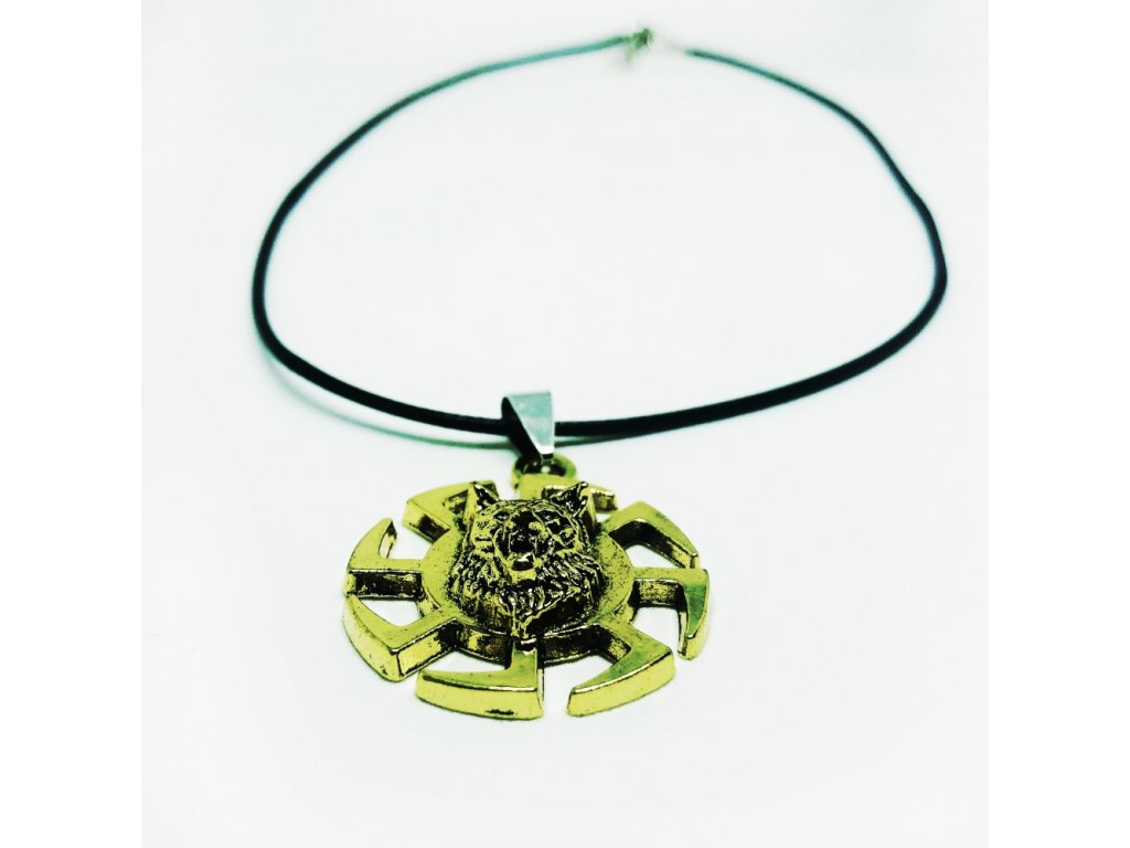 42642 warrior factory privesek vlk a symbol slunce golden