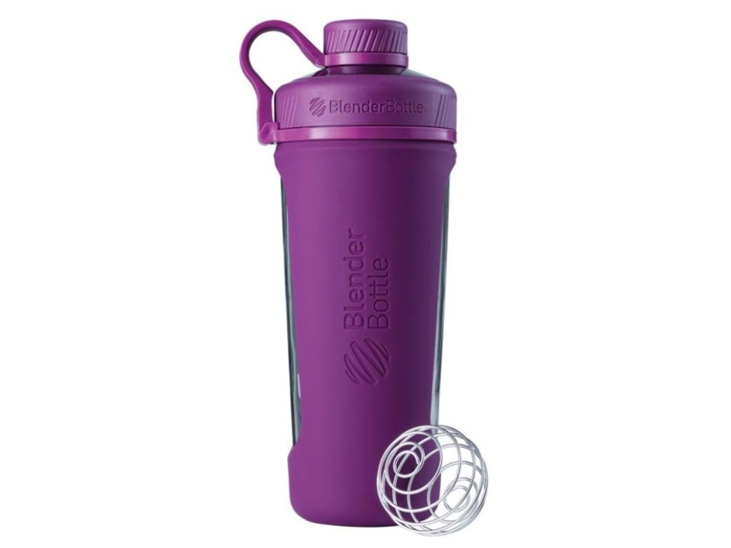 Blender Bottle Radian® Glass 820ml fialová
