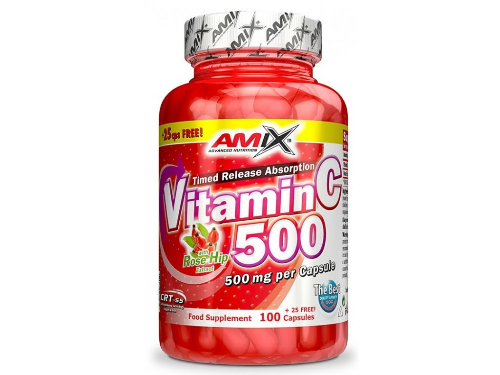 Amix Vitamin C 500mg 125kapslí
