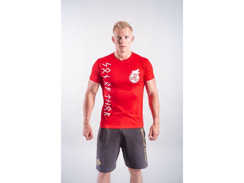 Pánské tričko Son of Thor Red/White