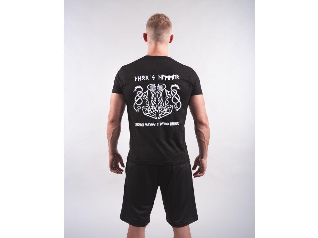 Pánské tričko THOR´S HAMMER & DRAGONS Black/White
