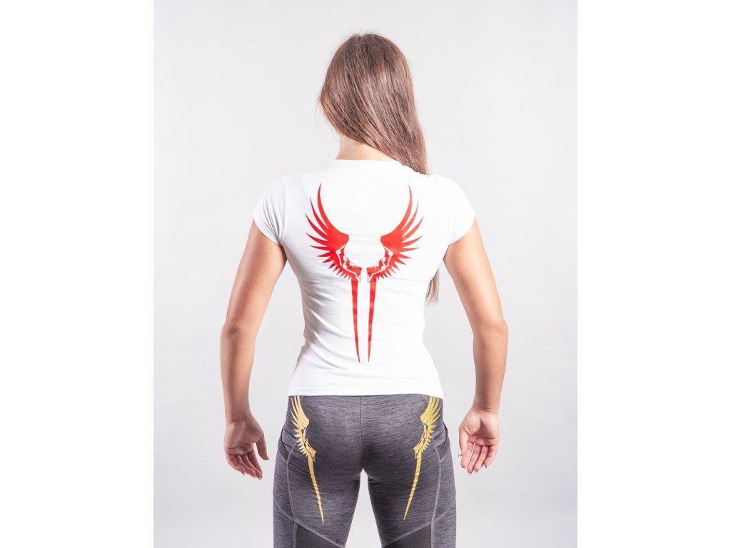 Dámské tričko Křídla Valkýrie White/Red