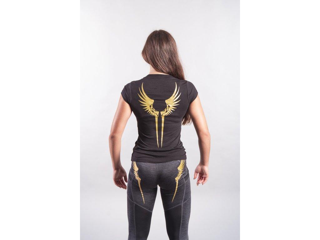 Dámské tričko Křídla Valkýrie Black/Golden