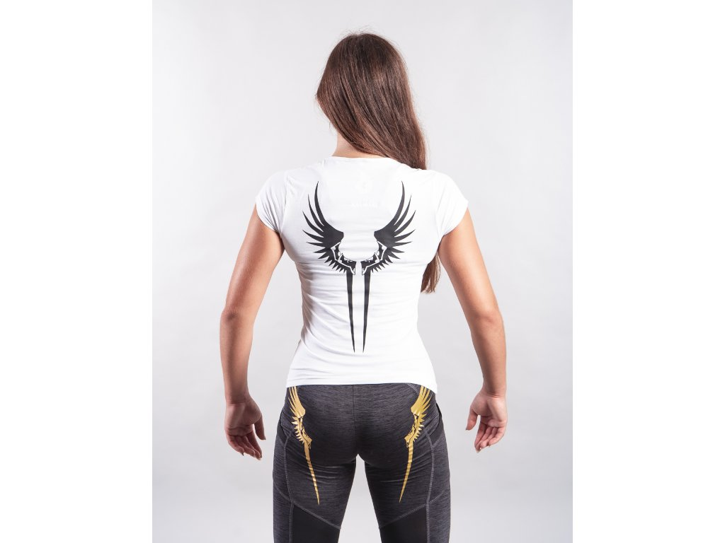 Dámské tričko Křídla Valkýrie White/Black