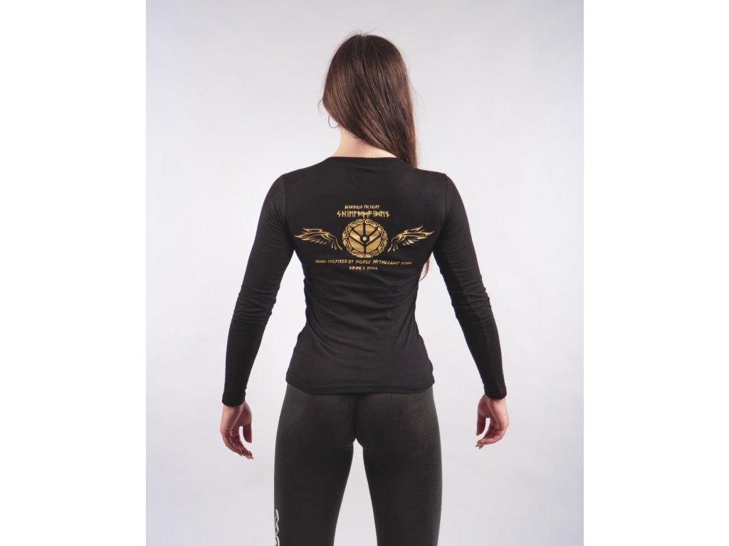 Dámské tričko SHIELDMAIDEN Black/Golden Dlouhý rukáv