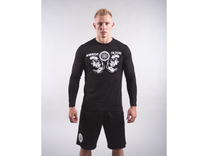 Pánské tričko BERSERKER Black/White Dlouhý rukáv