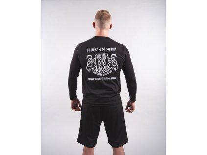 Pánské tričko THOR´S HAMMER & DRAGONS Black/White Dlouhý rukáv