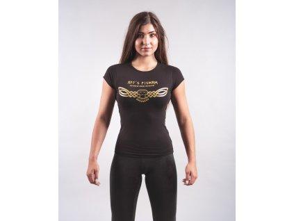 Dámské tričko OWL´S WISDOM Black/Golden