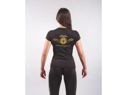 Dámské tričko SHIELDMAIDEN Black/Golden