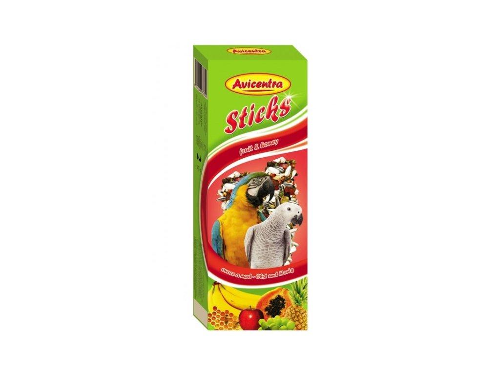 Avicentra tyčinky pro velké papoušky 110g  ovoce+med 2ks