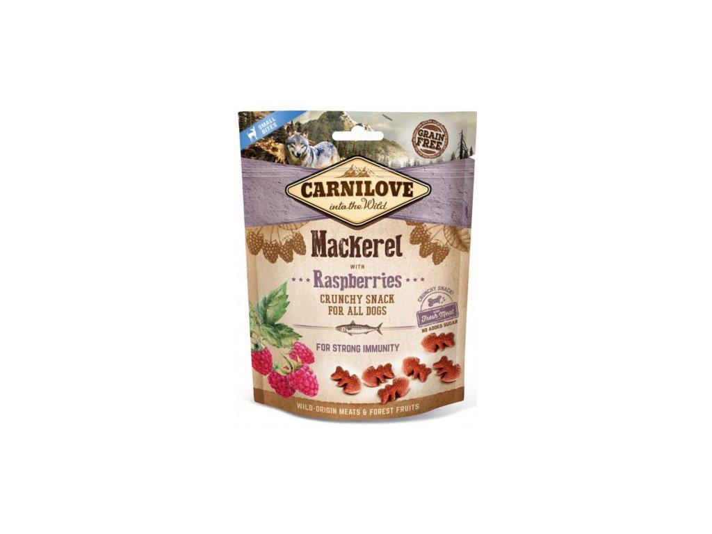 carnilove dog crunchy snack mackerelraspberries 200g