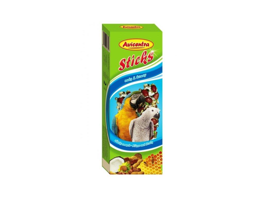 Avicentra tyčinky pro velké papoušky 110g ořech+kokos 2ks