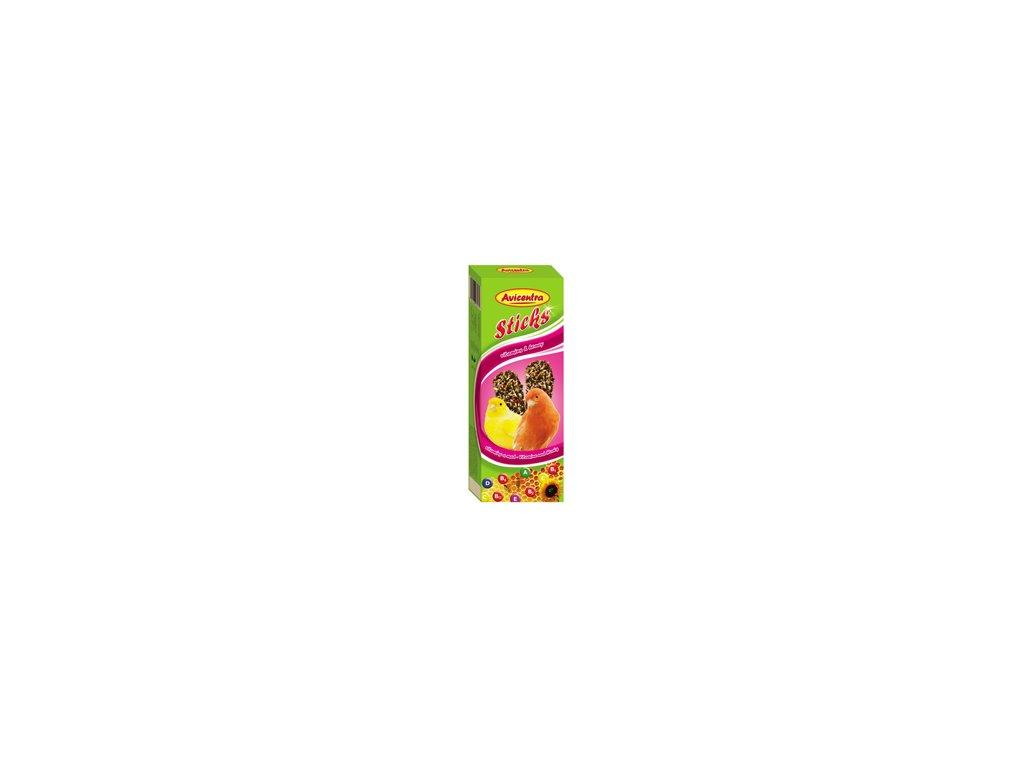 Avicentra tyčinky pro kanáry 110g vitamíny+med 2ks