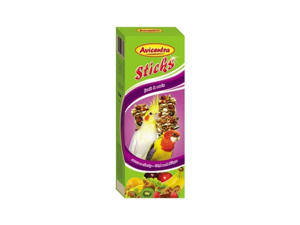 Avicentra tyčinky pro malé papoušky 110g ovoce+ořech 2ks
