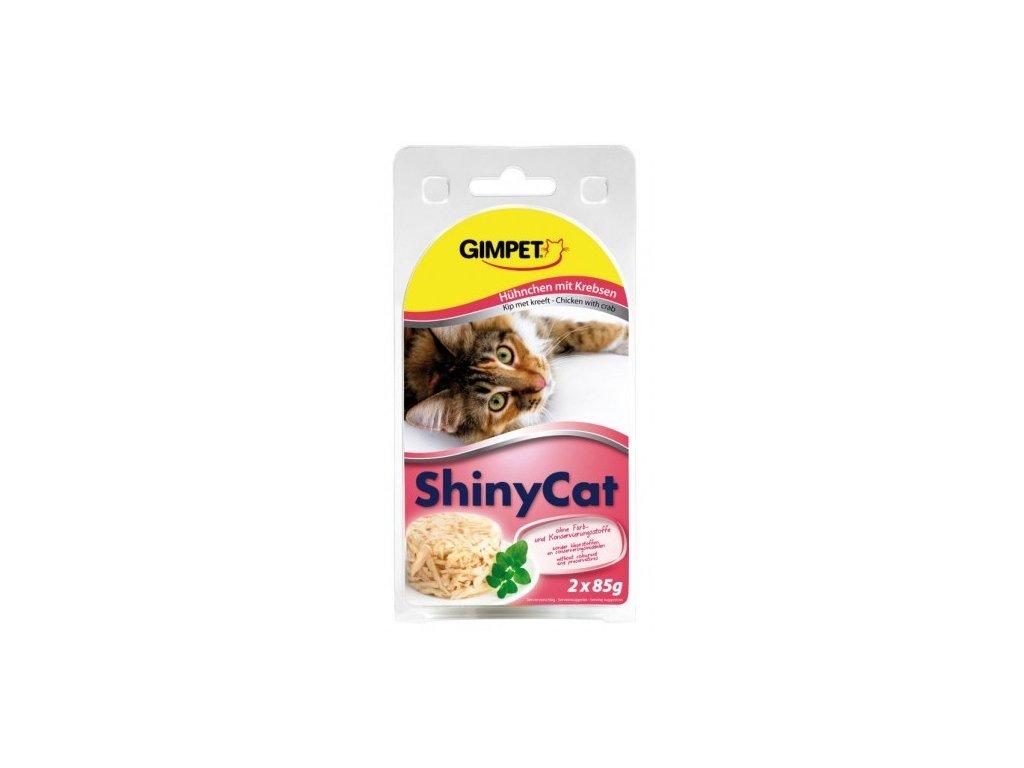 Gimpet Shiny Cat kuře/krab 2x70g