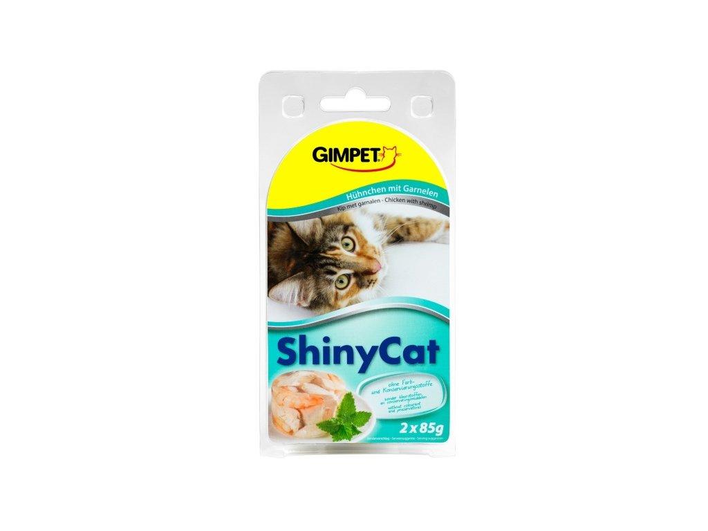 Gimpet Shiny Cat kuře/krevety 2x70g