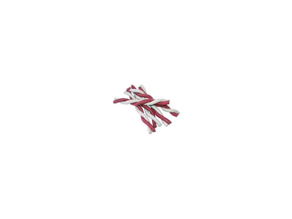 JERKY tyčka kroucená red/white 12,5cm 1ks