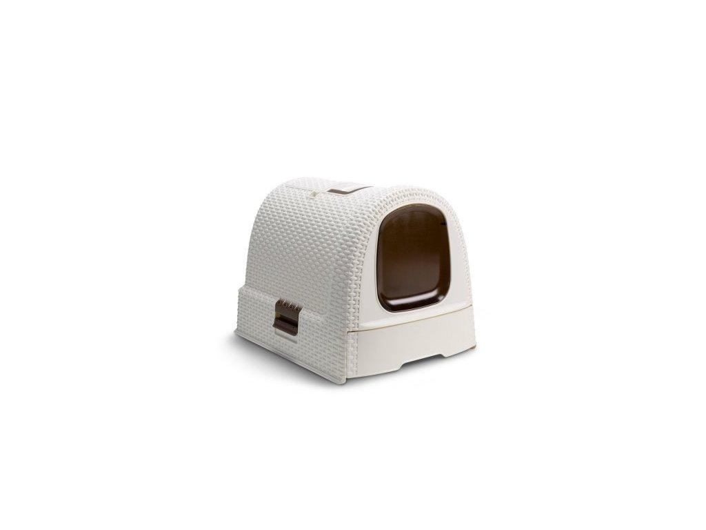 WC Curver toaleta pro kočky Rattan Vintage 39x39x51cm