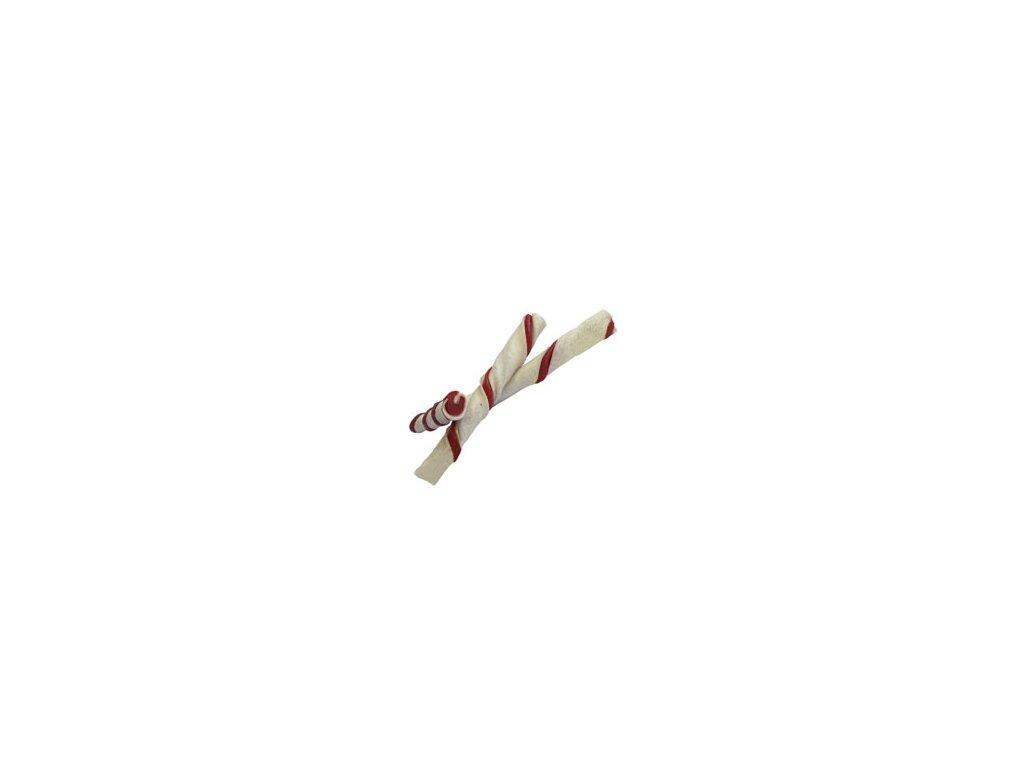 JERKY Rawhide Rollstick červená tyčinka 12,5cm