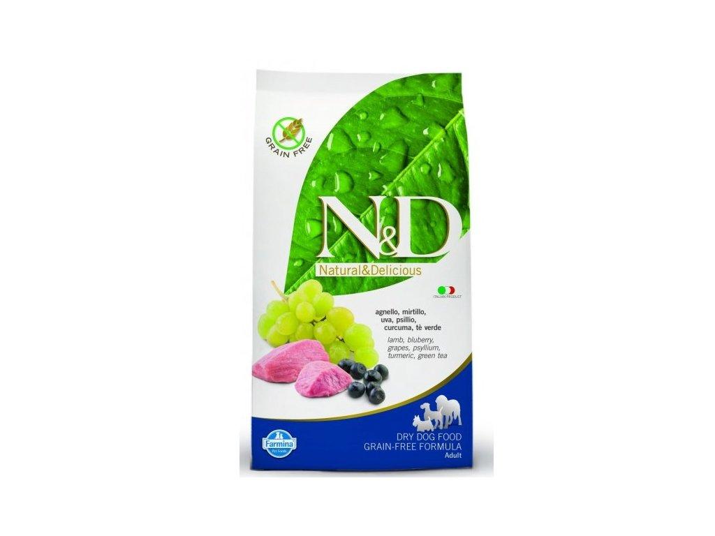 N&D GF DOG Adult Mini Lamb & Blueberry 7kg  poslední kusy