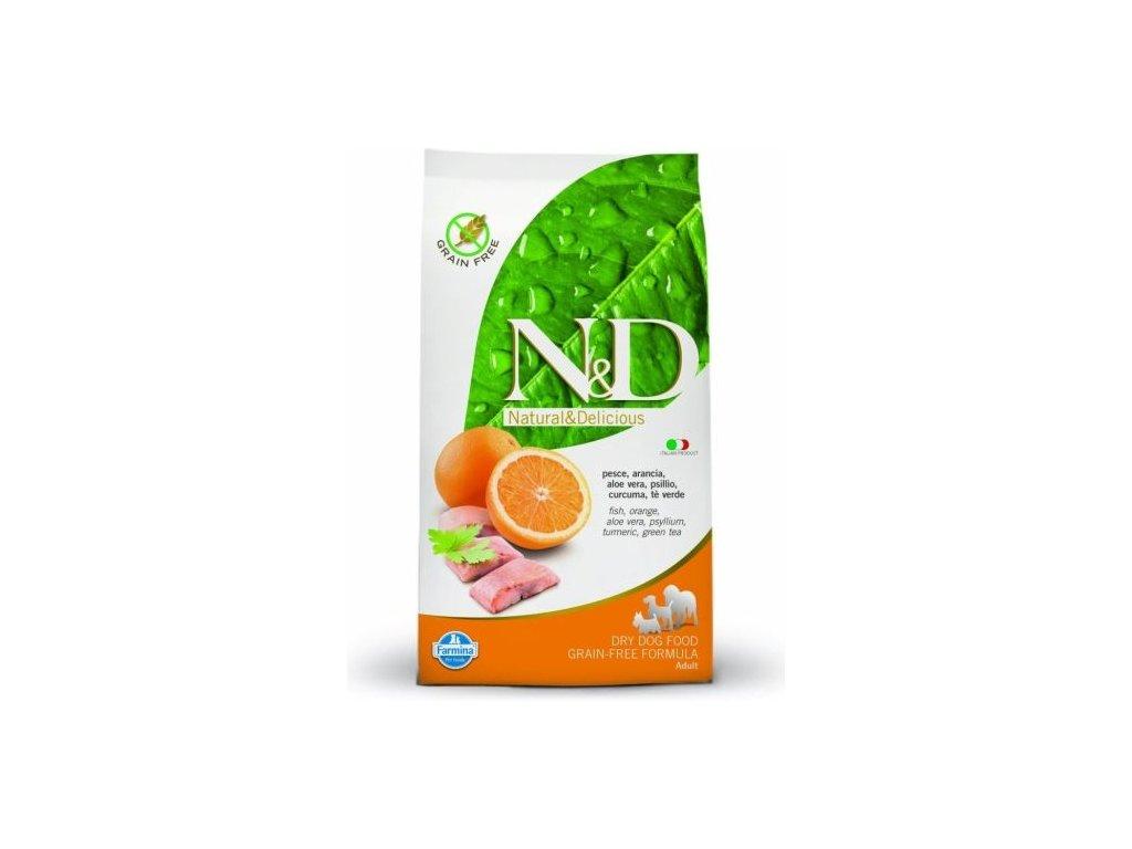 N&D GF DOG Adult Maxi Fish & Orange 12kg  poslední kusy