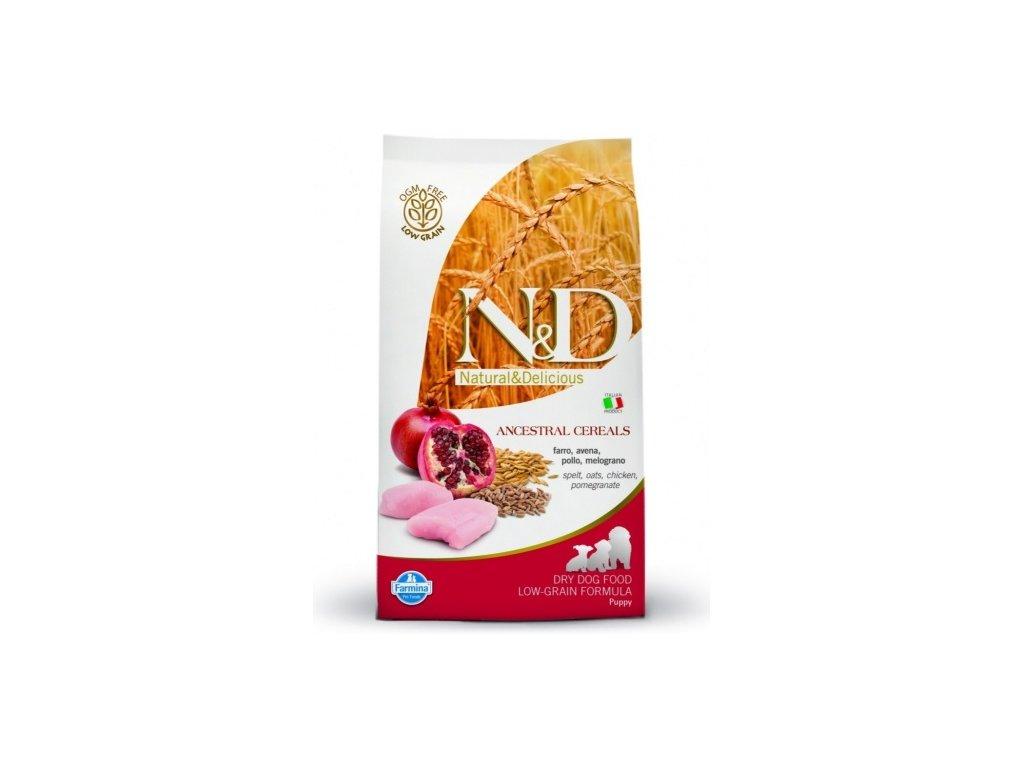 N&D Low Grain DOG Puppy Mini Chicken & Pomegr