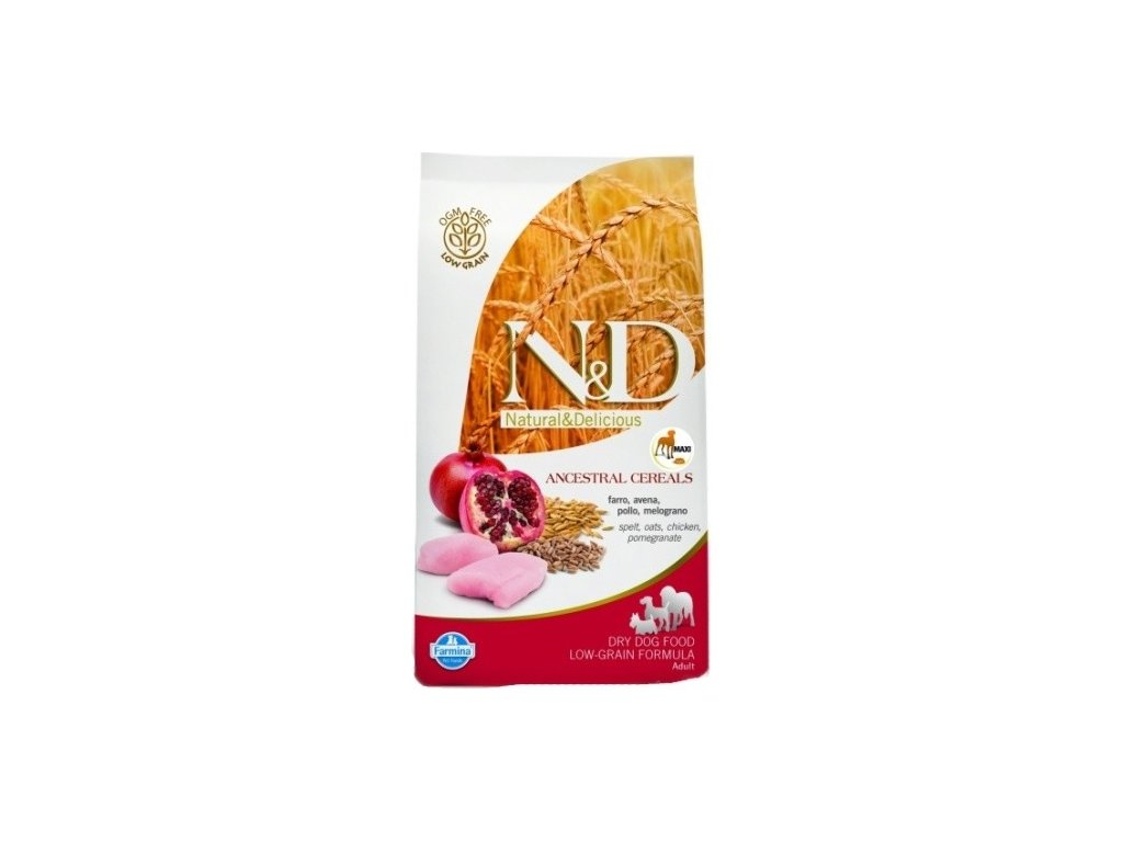 N&D LG DOG Light M/L Chicken&Pomeg