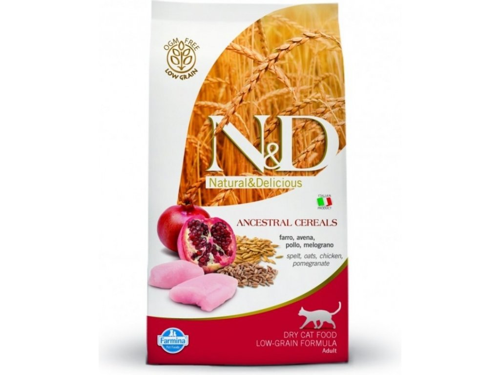 N&D LG CAT Neutered Chicken & Pomegranate