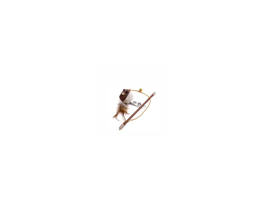 Hračka kočka Balónek na prutě s catnipem (šantou)