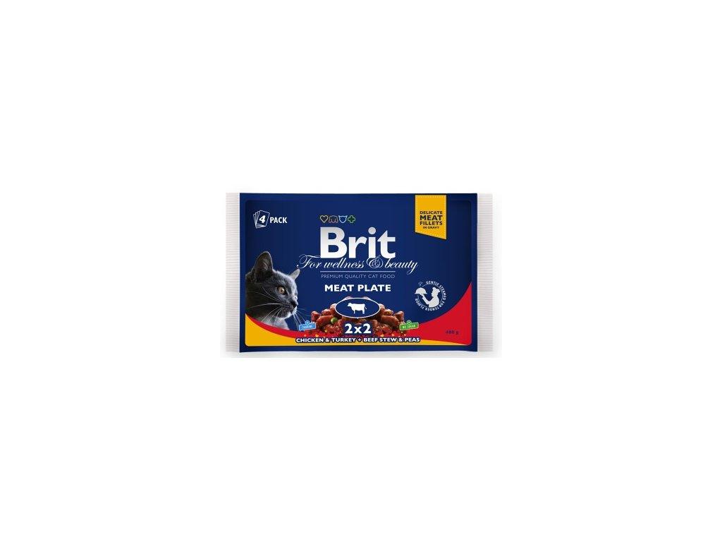 Brit Premium Cat kapsa 400g (4x100g)