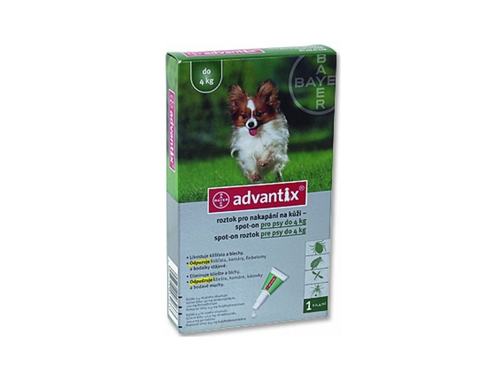 Advantix Spot On 1x0,4ml do 4kg