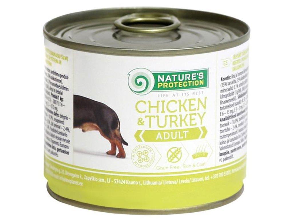 Nature's Protection Dog konz.Adult kuře/krůta