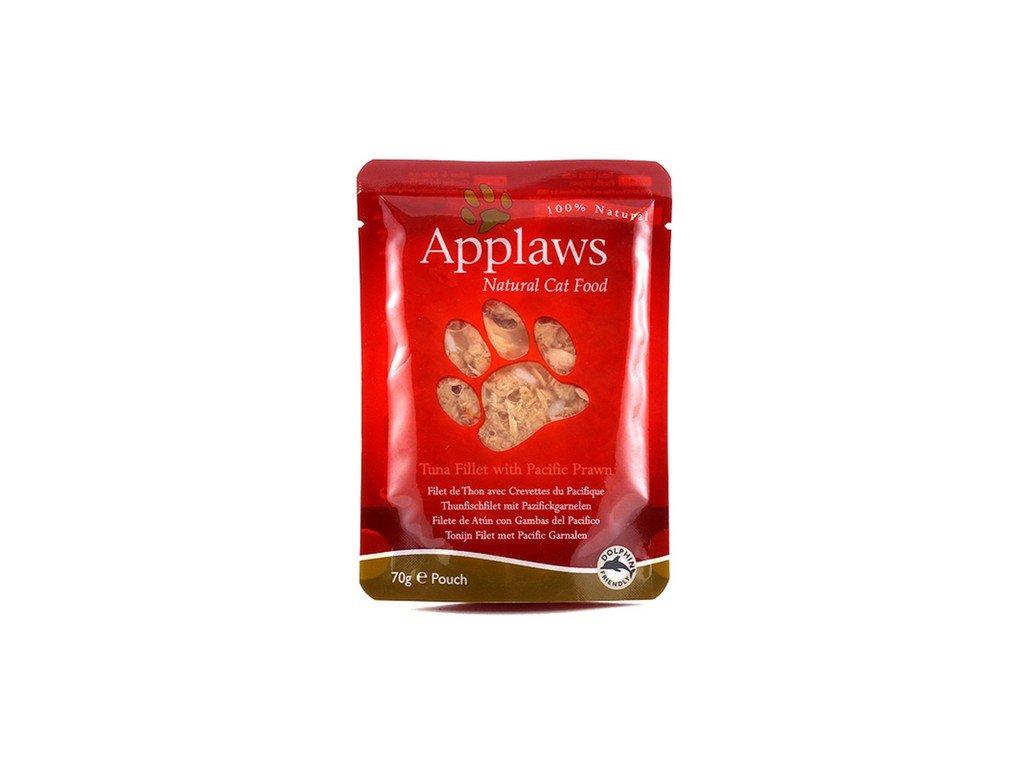 Applaws Cat kapsička tuňák a tygří krevety 70g