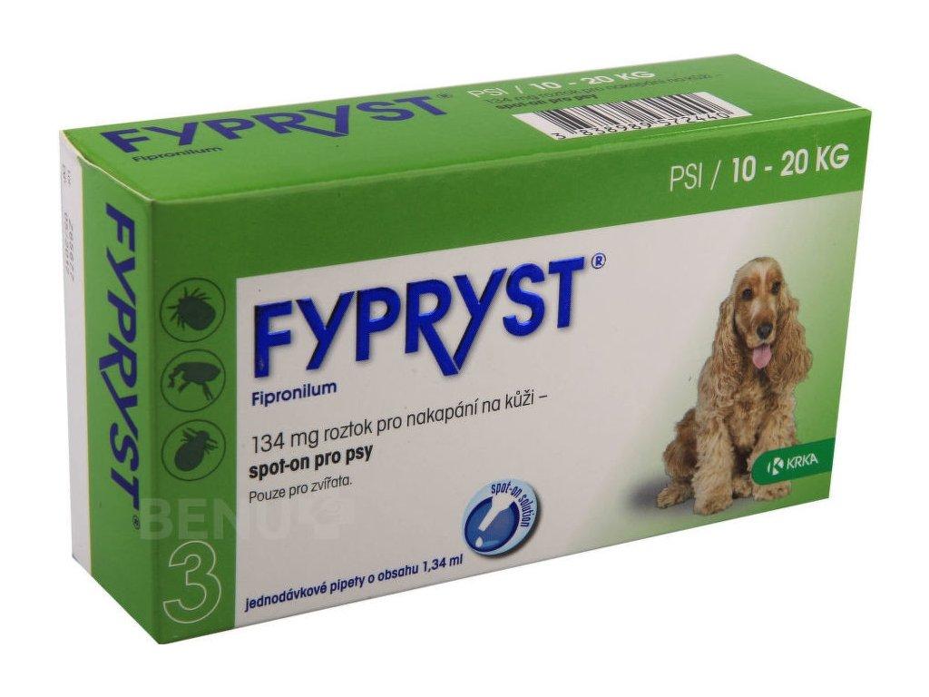 Fypryst spot on a.u.v. M (pes 10-20kg) sol 1x1,34 ml