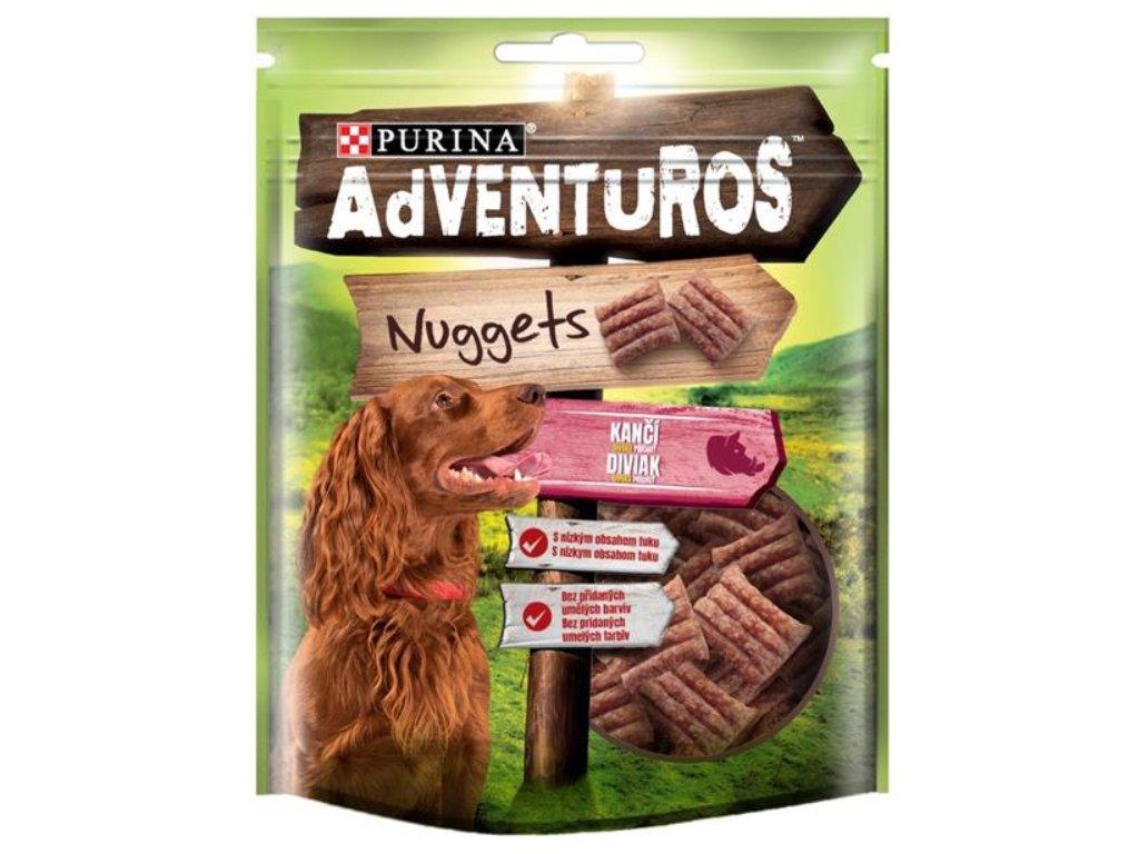 Adventuros snack dog - nugetky s kančí přích. 90g
