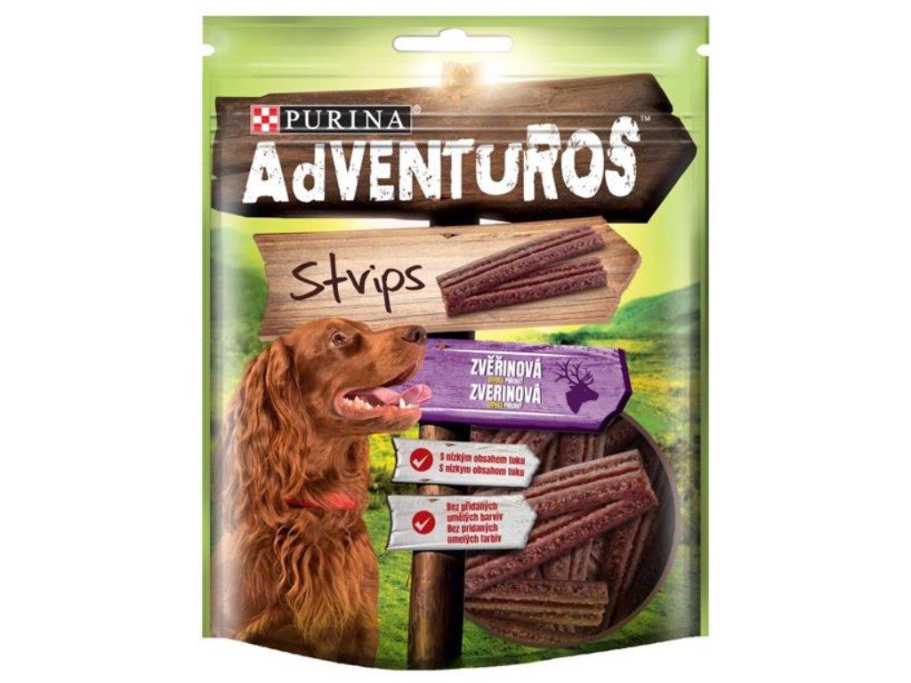 Adventuros snack dog - plátky se zvěřinou 90g