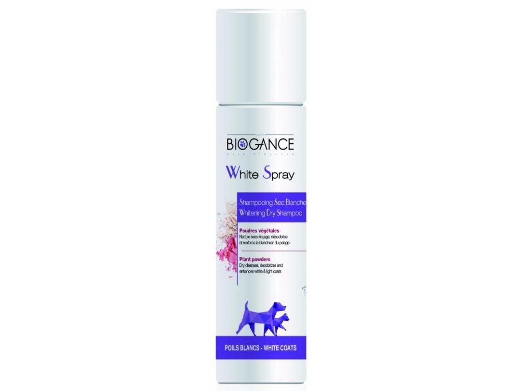Biogance White spray - suchý šampon na bílou srst 300ml