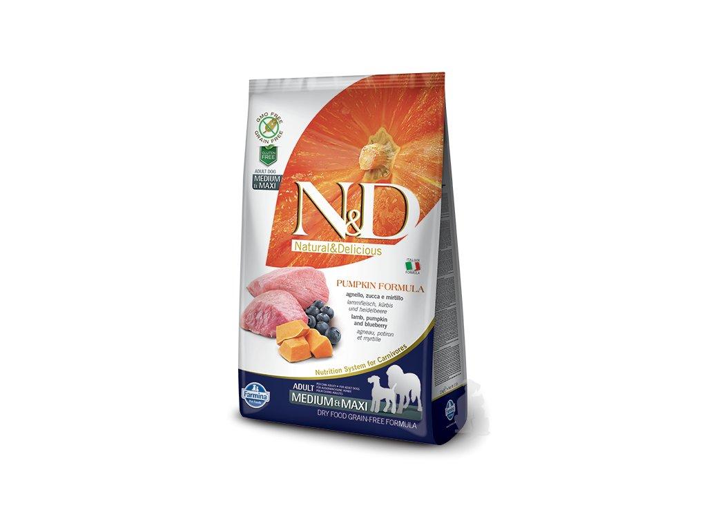 N&D GF Pumpkin DOG Adult M/L Lamb & Blueberry