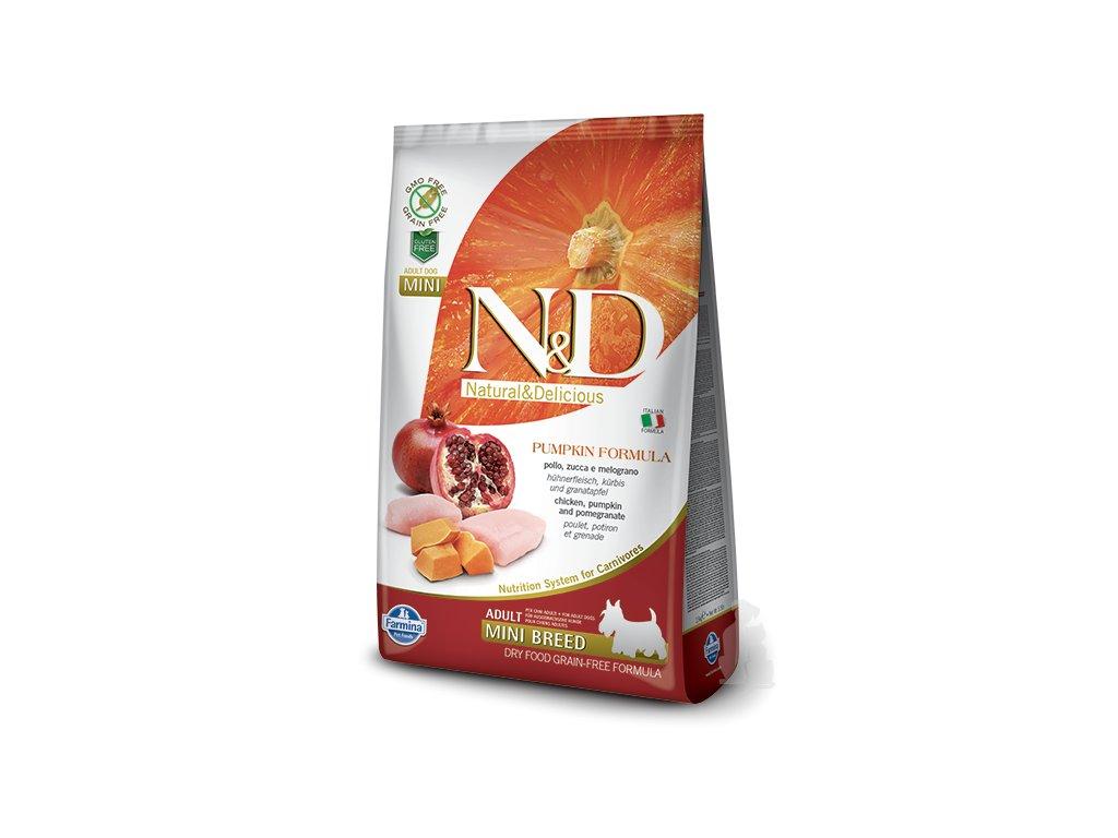 N&D GF Pumpkin DOG Adult Mini Chicken&Pomegranate