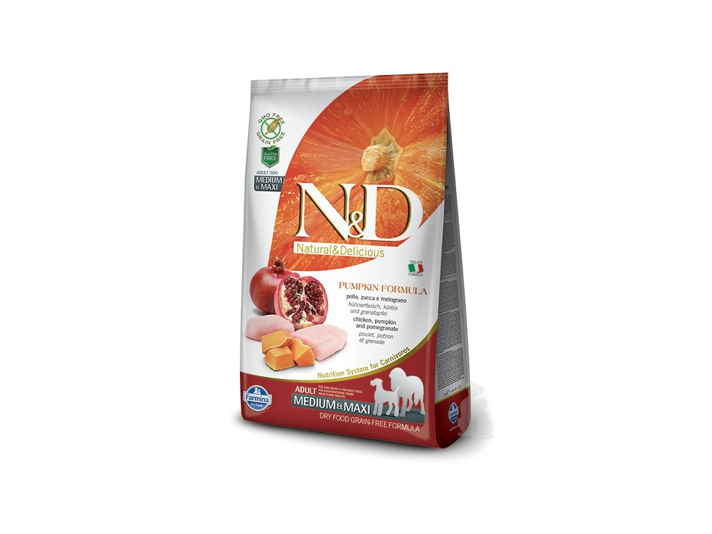 N&D Pumpkin DOG Adult M/L Chicken&Pomegranate