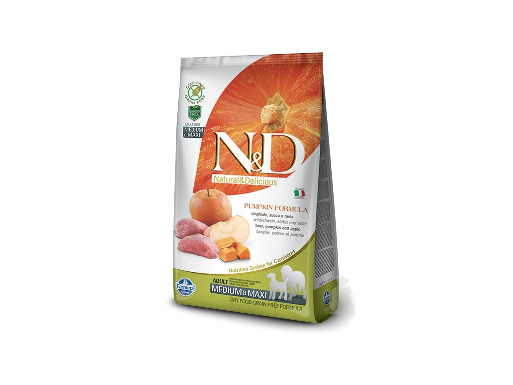 N&D GF Pumpkin DOG Adult M/L Boar & Apple