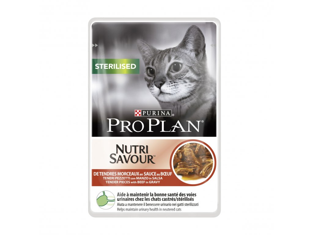 PRO PLAN Cat kaps. Sterilised Beef 85g