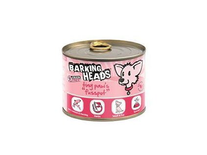 BARKING HEADS Tiny Paws Fusspot konzerva 6x200g