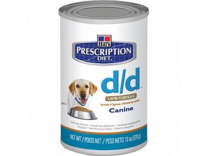 Hill's Canine D/D konzerva Lamb+Rice 6 x 370 g