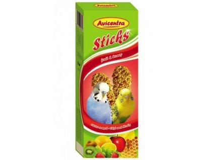 Avicentra tyčinky pro andulky 110g - ovoce a med 2 ks