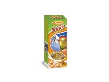 Avicentra tyčinky pro andulky 110g vejce+med 2ks